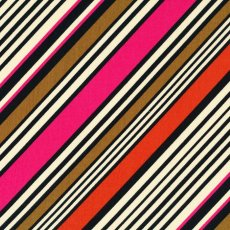 Kokka Diagonal Stripe Pink & Orange This striking diagonal stripe is a beautiful japanese dress fabric well suited to fashion Please Click the image for more information.