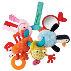 Lilliputiens Water Friends Keyrings  This bunch of keys consist of a teething ring and five water friends  Anouk the penguin Romeo the toad Oscar the crab an octopus and a fish Eac. Please Click the image for more information.