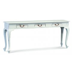 Maison 3 Drawer Sofa Table - White The Maison 3 Drawer Sofa Table is both functional and beautiful Made by professional craftsmen it had 3 Drawers with brass handles and looks superbAt . Please Click the image for more information.