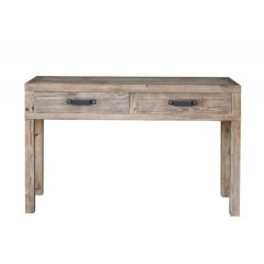 """Avalon"" Reclaimed Timber 2 Drawer Hall Table 140cm The Avalon Hall table is made from reclaimed timber and has a lovely rustic look It is the perfect combination of style quality and excellent value for moneyAt Tigress Direct we offer amazing quality furniture at the fraction of retail prices Order DIRECT and save We offer a full 12 month Manuf. Please Click the image for more information."