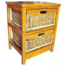 Tropicana 2 DWR Cane Basket Cabinet Stunning storage solutions that will add a tropical touch to any room The Tropicana Cabinet is beautiful with its Mango Wood timber and 2 smooth sanded cane basket drawer A. Please Click the image for more information.