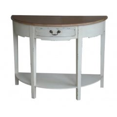 """Homestead"" Half Moon Hall Table Console 85cm ON DISPLAY AT CASTLE HILL FURNITURE SHOWROOMThis beautiful Homestead Half Moon Hall Table Console  with its white distressed finish and will add the perfect touch to your home  For a sim. Please Click the image for more information."