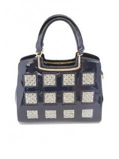 H0511B PATENT LEATHER HANDBAGS  AVAILABLE IN BLUE BLACK OR BURGUNDYPERFECT FOR THE LADY THAT LOVES A BIT OF BLING Please Click the image for more information.