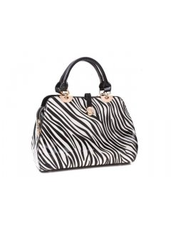 H0514 ZEBRA LEATHER HANDBAG Please Click the image for more information.