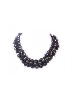 10669 MULTI PEARL CHOKER  AVAILABLE IN BLACK CREAM RED GREY OR CHAMPAGNE Please Click the image for more information.