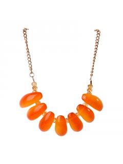 10678 Summer Bead Necklace available in Orange Blue or RedGreat set with matching earrings these pieces will compliment any Summer Outfit. Please Click the image for more information.