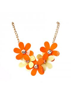 10695A SUMMER FLOWER NECKLACEAVAILABLE IN ORANGELEMON CORALRED PINKPURPLE OR GREYBLACK Please Click the image for more information.