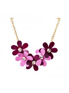 10695C SUMMER FLOWER NECKLACEAVAILABLE IN PINKPURPLE BLACKGREY CORALRED OR ORANGELEMON Please Click the image for more information.
