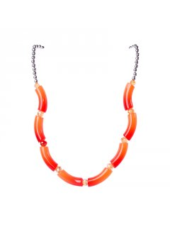 10680A VARIGATED NECKLACE  EARRING SETAVAILABLE IN GREEN ORANGE PINK OR BLUE Please Click the image for more information.