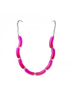 10680C VARIGATED NECKLACE  EARRING SET AVAILABLE IN ORANGE GREEN BLUE OR PINK Please Click the image for more information.