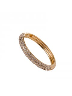 B0204 3 ROW DIAMONTE BANGLE AVAILABLE IN GOLD OR SILVER Please Click the image for more information.