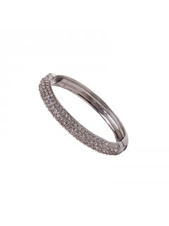 B0204A 3 ROW DIAMONTE BANGLE AVAILABLE IN GOLD OR SILVER Please Click the image for more information.