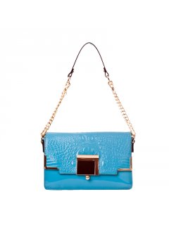 H0580 LEATHER HANDBAGS IN PASTEL SUMMER COLOURSAVAILABLE IN BLUE WATERMELON PINK BEIGE OR YELLOW Please Click the image for more information.