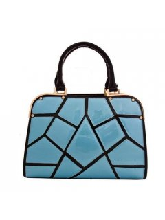 H0582 LEATHER HANDBAG IN PINK OR BLUE Please Click the image for more information.