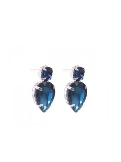E0624D PEAR SHAPED STUDAVAILABLE IN BLACK DIAMOND CRYSTAL BLUETURQUOISE OR RED Please Click the image for more information.