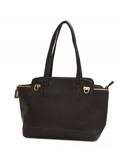 H0572 FASHION HANDBAG  AVAILABLE IN BLACK OR CHERRY RED Please Click the image for more information.