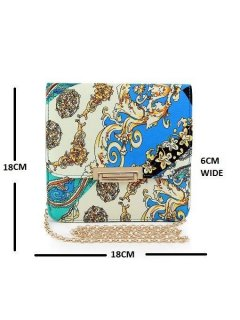 H0545 PAISLEY EVENING BAGS WITH LONG CHAINAVAILABLE IN BLUE PINK OR ORANGE TONES Please Click the image for more information.