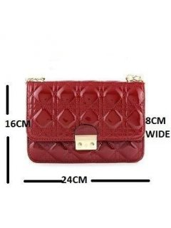 H0559A CHANEL LOOK PATENT BAGAVAILABLE IN RED BLUE FUSCIA OR BLACK Please Click the image for more information.