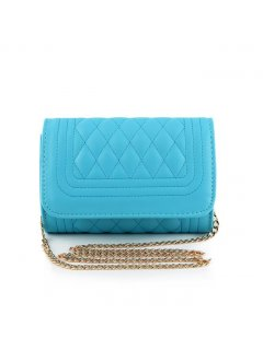 H0560C BARREL QUILTED EVENING BAGAVAILABLE IN BLUE BLACK WHITE OR PINK Please Click the image for more information.