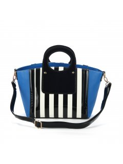 H0557B SUMMER HANDBAGS  RED WITH BLACK  WHITE STRIPED PANELSALSO AVAILABLE IN WHITE OR BLUE Please Click the image for more information.