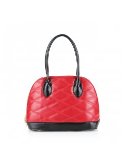 H0629 RED QUILTED LEATHER HANDBAG Please Click the image for more information.