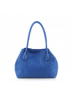 H0625B BLUE BUBBLE PRINT TOTE Please Click the image for more information.