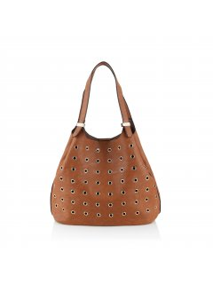 H0624B  BROWN STUDDED TOTE WITH SEPERATE SATCHEL Please Click the image for more information.