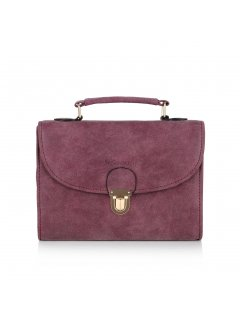 H0622c RED FAUX SEUDE SHOULDER BAG Please Click the image for more information.