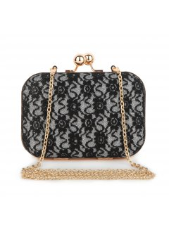 H0615 BLACK LACE CLUTCH  Please Click the image for more information.