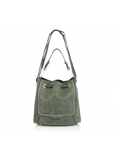 H0613D GREEN FAUX SEUDE SLING BAG Please Click the image for more information.