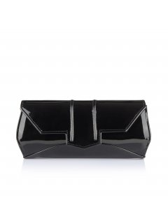 H0609 BLACK PATENT EVENING BAG Please Click the image for more information.