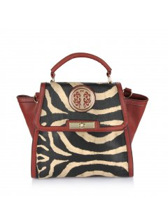 H0606A BROWN ANIMAL PRINT HANDBAG Please Click the image for more information.