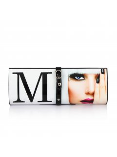H0599A WHITE M MAGAZINE EVENING BAG Please Click the image for more information.