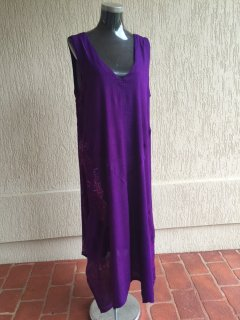 K020 PURPLE CRINKLE RAYON DRESS1 PACK HAS 1 X SML Please Click the image for more information.