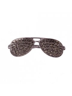 BR0130A BROOCH  AVIATION GLASSES  BLACK  Please Click the image for more information.
