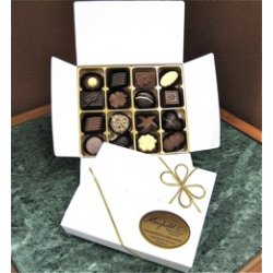 White gift box - 16 chocolates $29.50 Contains 16 assorted chocolates Please note that as every box is packed differently the precise assortment shall vary from the one pictured but be of equivalent quality If. Please Click the image for more information.