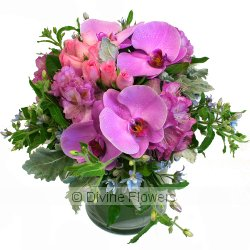 Floral Vase in Lilac & Pink  Priced from $ 125  Click for more details